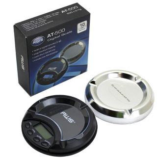 AWS AT-500 500g X 0.1g Ashtray Scale - Silver